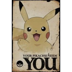 Plagát (1b) Pokémon - Pikachu Needs You 61 x 91,5cm