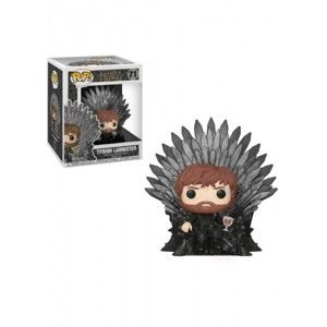 Figúrka POP!  Deluxe GOT S10 - Tyrion Sitting on Iron Throne