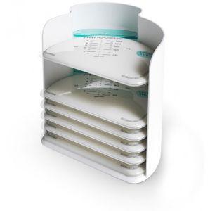 Nanobebe vaky na přechovávání mléka - 25 ks + organizér