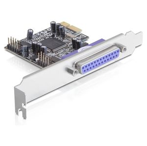 DeLock adaptér PCI Express x1, 2x RS-232 + 1x Parallel (89129)