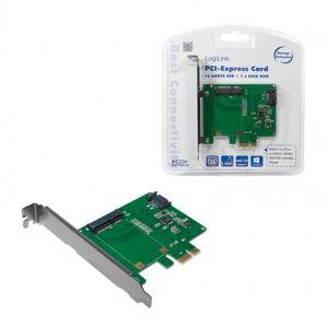 LogiLink řadič PCI Express, 1x mSATA + 1x SATA [PC0077]