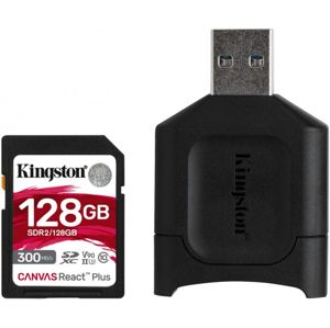 Kingston SDXC Canvas React Plus SDR2 128GB + czytnik SD MobileLite Plus