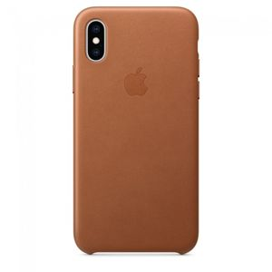 Apple iPhone XS Leather Case Saddle Brown [MRWP2ZM/A]