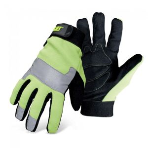 CAT High Visibility Padded Palm Utility with Adjustable Wrist CAT012214M
