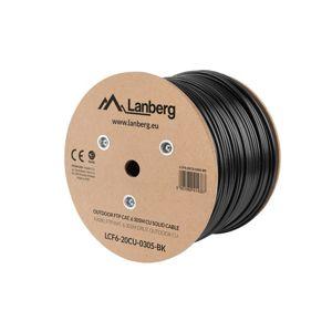 Lanberg Patch kabel 305.0m FTP Cat. 6 venkovní [LCF6-20CU-0305-BK]